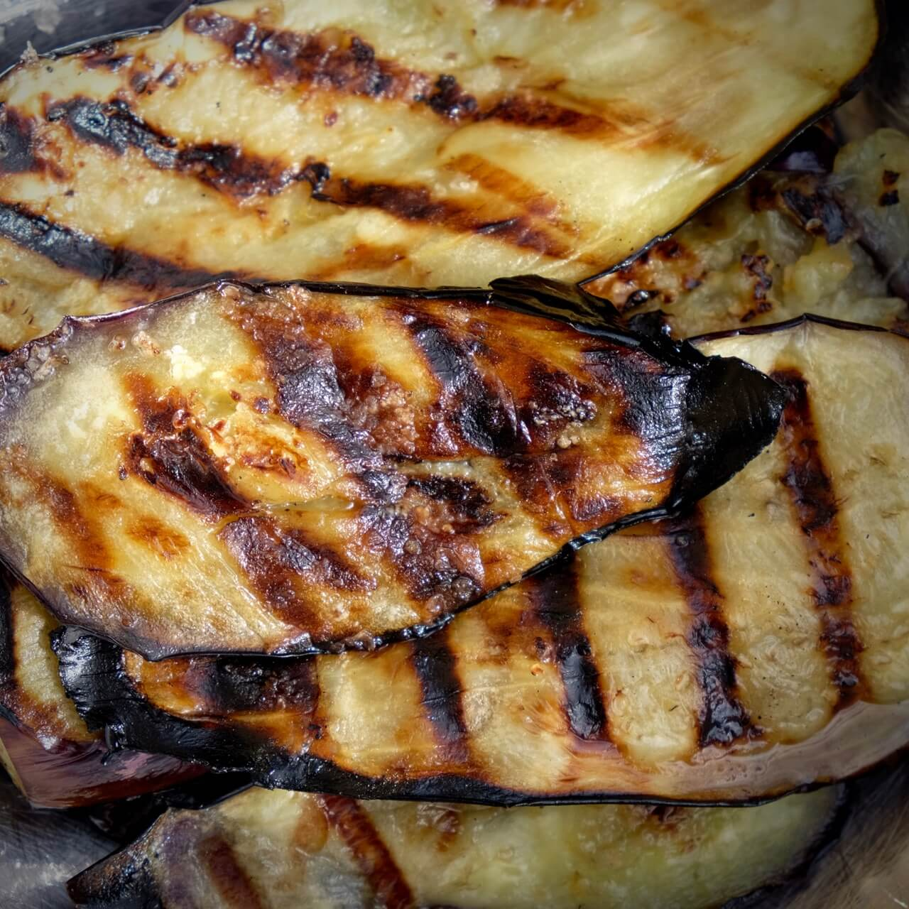 Griddled Aubergine Salad