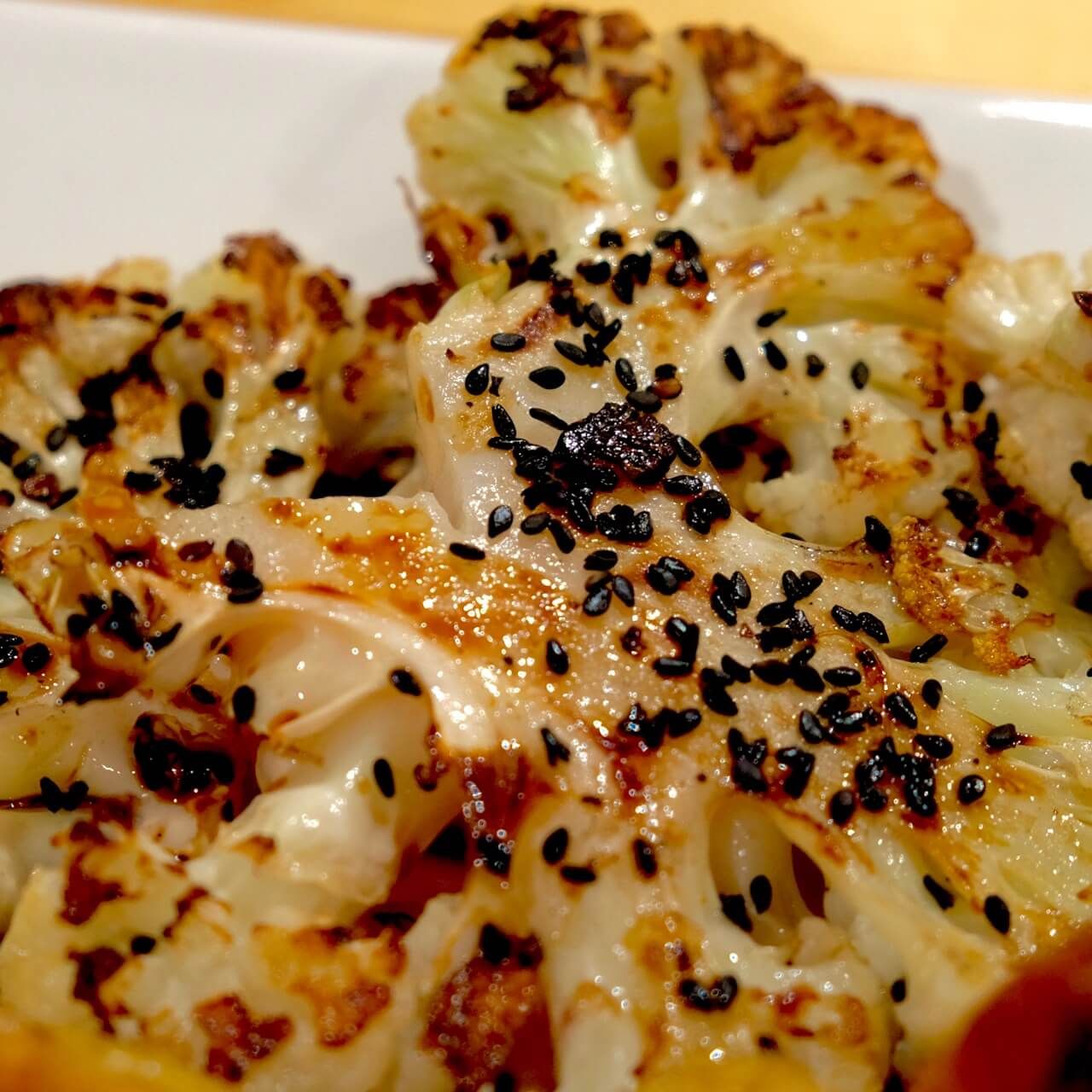 Cauliflower, truffle and black sesame
