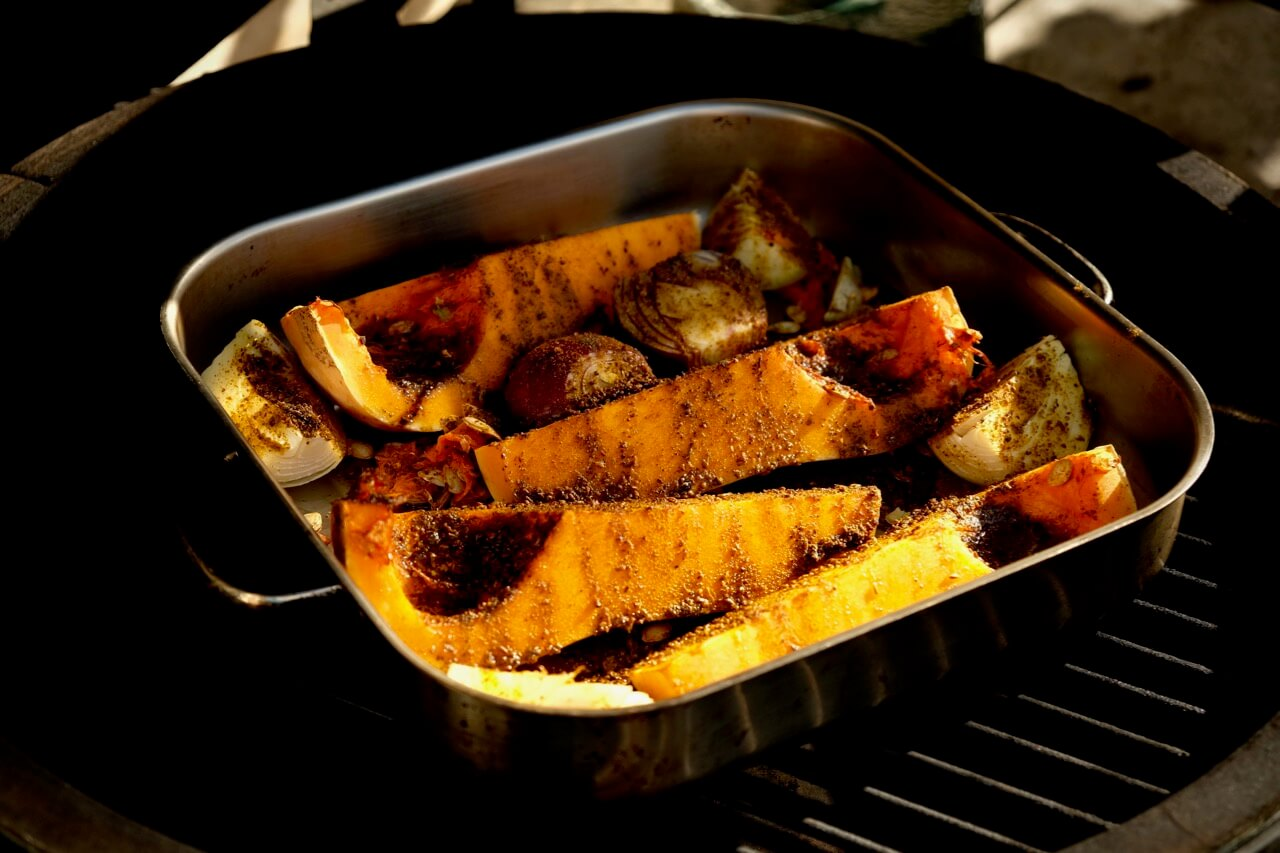 Roasting Squash and Onion