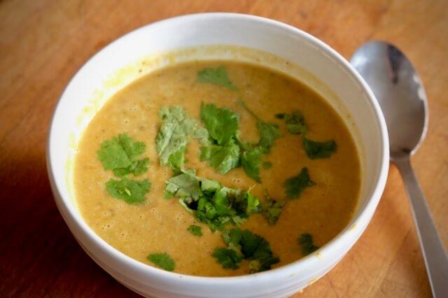 Smokey roast butternut squash soup