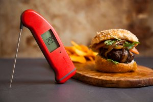 Thermapen and burger