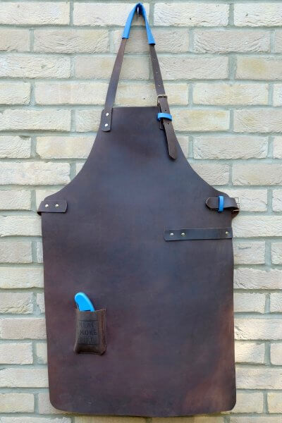 Meat Smoke Fire Leather Apron
