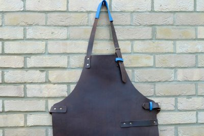 Leather Apron, neck and buckle detail