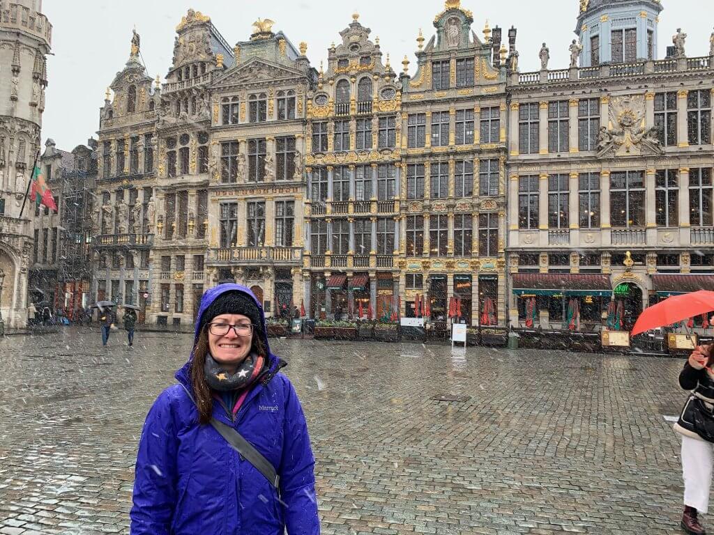 Helena in snowy Brussels