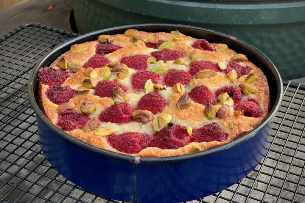 Rasperry and almond cake